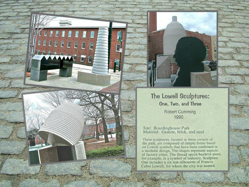 Lowell, MA -  symbol sculptures