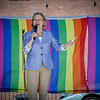 City Council member, Eileen Donoghue makes an appearance at the Pride Festival in Lowell on Sunday. SUN/Caley McGuane