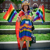 Renee Manning of Andover celebrates in color at the Lowell Pride Festival. SUN/Caley McGuane