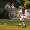 Lowell Spinners third baseman Bobby Dalbec picks up a ground ball and fires to first for the out during their game against the Connecticut Tigers on Wednesday night. SUN/JOHN LOVE