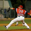 The Lowell Spinners pitcher Danny Zandona winds up to deliver a pitch during Monday nights game against the Brooklyn Cyclones. SUN/JOHN LOVE