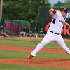 The Lowell Spinners opening day was on Monday afternoon, June 19, 2017, at LeLacheur Park. Starting pitcher for the Spinners Jason Groome winds up to deliver a pitch during action early in the game before the rain delay then cancellation. Will be a double header on Tuesday. SUN/JOHN LOVE