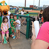 The Lowell Spinners opening day was on Monday afternoon, June 19, 2017, at LeLacheur Park. Getting their picture take with the Canaligator just before the Spinners game is from left Katra Stefani, 10, Catie, Edwards, 9, Ella Stefani, 8, and Ellie Edwards, 8, fronm the Bancroft School in Andover. SUN/JOHN LOVE