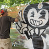 Greg Boggs paints away at Civic Day SENTINEL&ENTERPRISE/Scott LaPrade