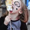 2017 Lowell Winterfest Saturday. Morgan Calhoun, 3, of Lowell, eats her toasted marshmallows.  (SUN/Julia Malakie)