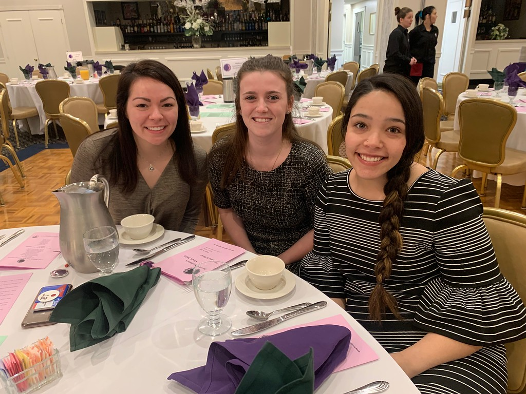 . From left, Cheyenne Alexander of North Andover, Michelle Frizzell of Hull and Kadie Dickson of Pittsfield