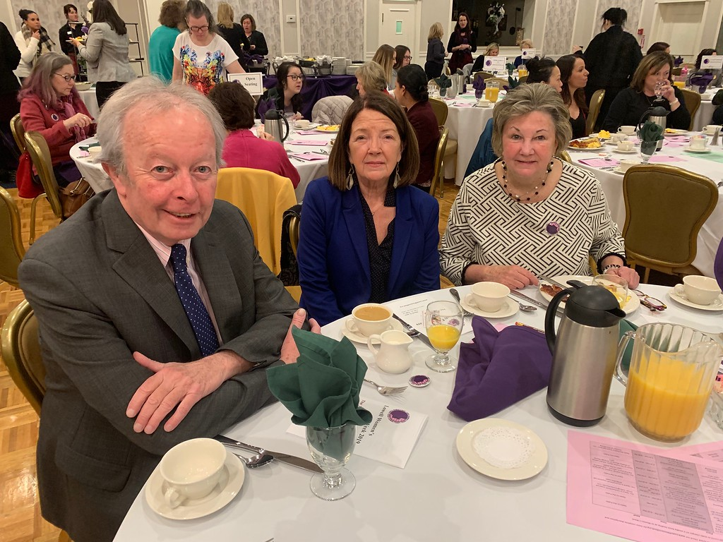 . From left, state Sen. Edward Kennedy, Patti Kirwin-Keilty and City Councilor Rita Mercier all of Lowell