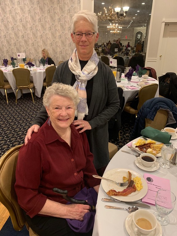 . Donna O�Neil of Newburyport, seated, and Kate Tyndall of Lowell
