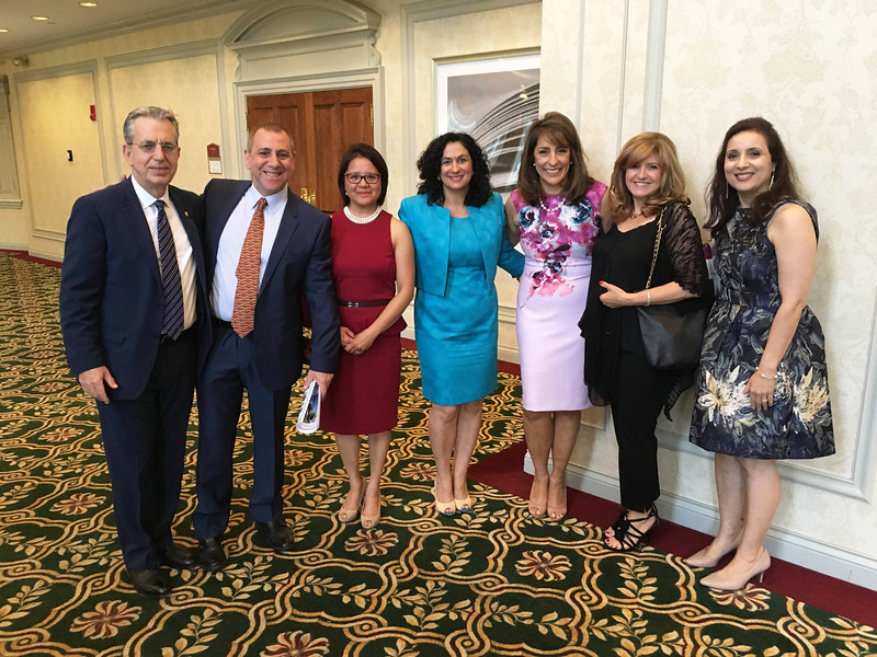From left, Vassilos Vasiliadis of Weymouth, George and Susan Potamitis, Ritsa Meltsakos and Voula Danas, all of Andover, Maria Vasiliadis of Weymouth, and Pauline Theodore of Quincy