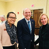 From left, Cheryl Lim of Lowell, Middlesex Community College President James Mabry of Bedford and Ellen Grondine of Westford