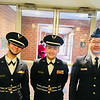 LHS Honor Guard members, from left, Nayeli Colon, Nyckole Lazaro and Donovan Tran