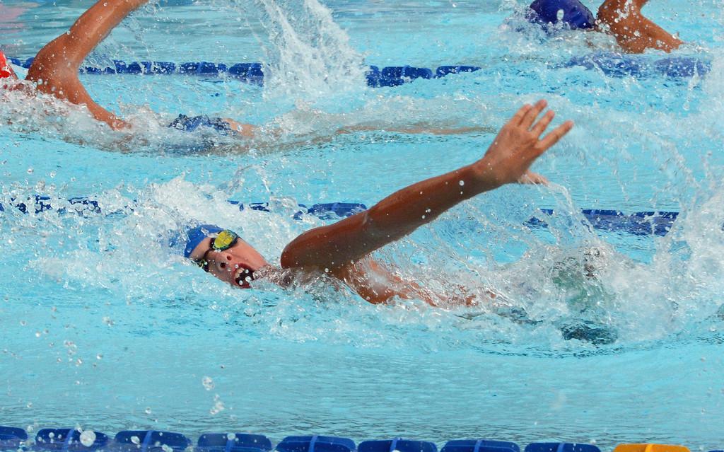 . Liam Wekluk swims the 50 free for Richboro.