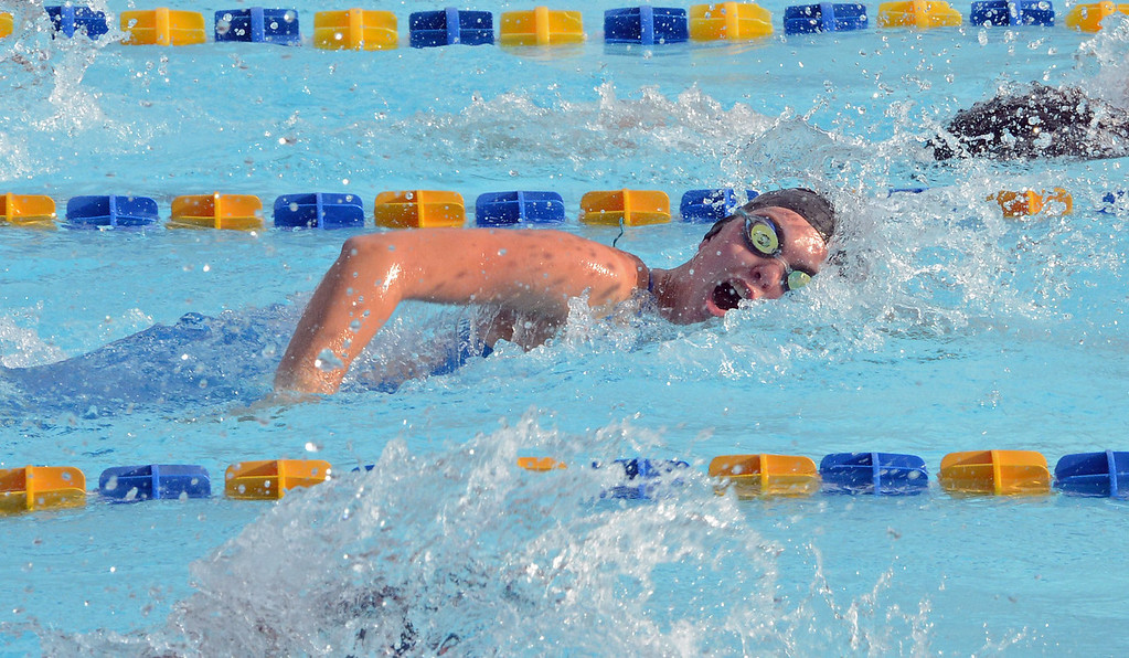 . Hailey Goodyear swims the 50 free in the women\'s 15-18 division.