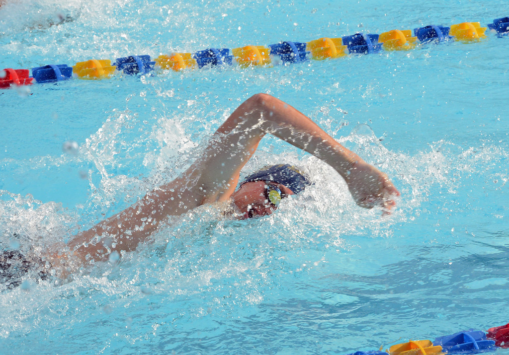 . Andrew Ridings swims the men\'s 15-18 freestyle.