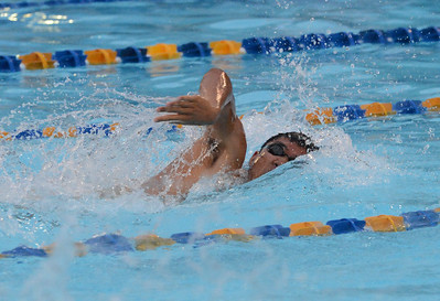 Eric Xu swims for Council Rock South during the scholastic season.