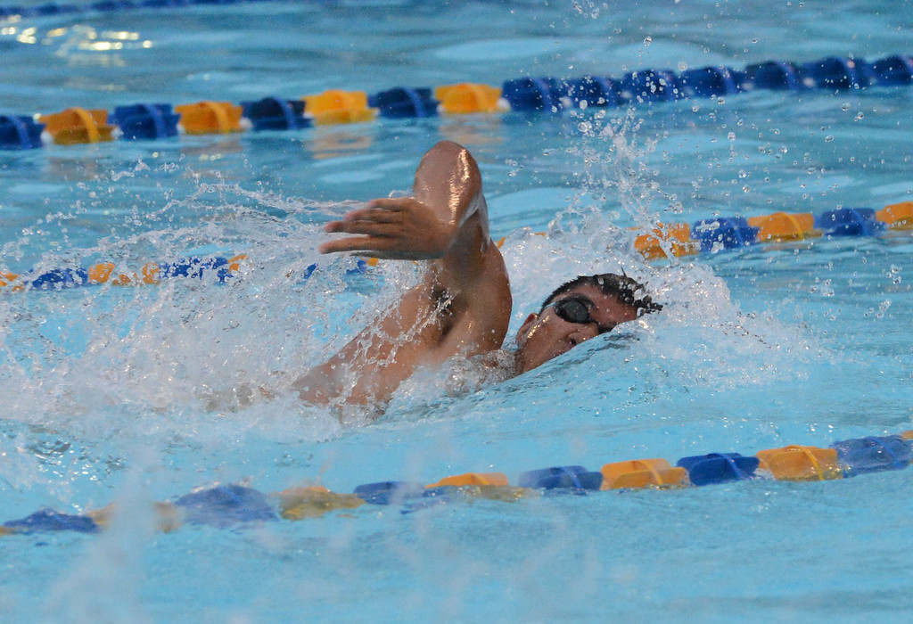 . Eric Xu swims for Council Rock South during the scholastic season.