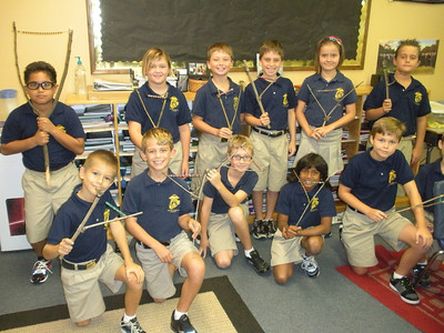 4th grade and their native american rattle project