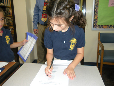 Voting during Student Council Elections