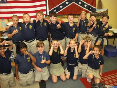 3rd grade with their calaca necklaces