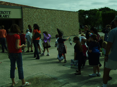 2nd graders during the Halloween Animal Parade