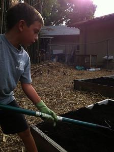 Spreading the soil builder