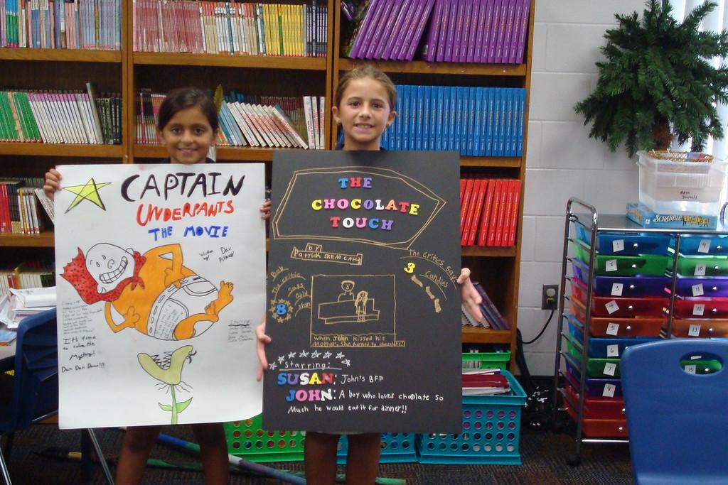 4th Grade Movie Poster Book Report - Admiral Farragut Academy