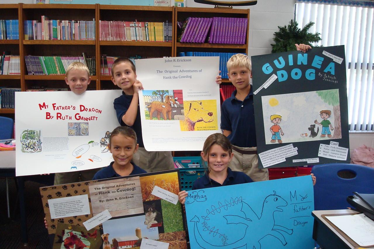 3rd Grade Movie Poster Book Report - Admiral Farragut Academy