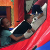 Bounce house fun with Alyssa and Fletcher