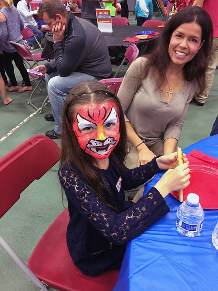 Food and face painting!