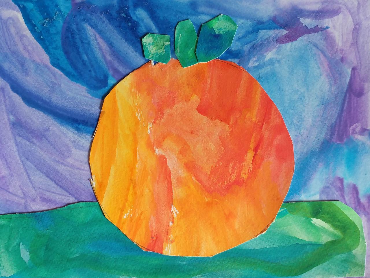 Mixed Media Pumpkin Collage