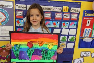 Kh Painting a Flower Rainbow  Garden
