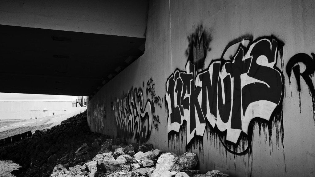 Graffiti Under the Lowry Bridge