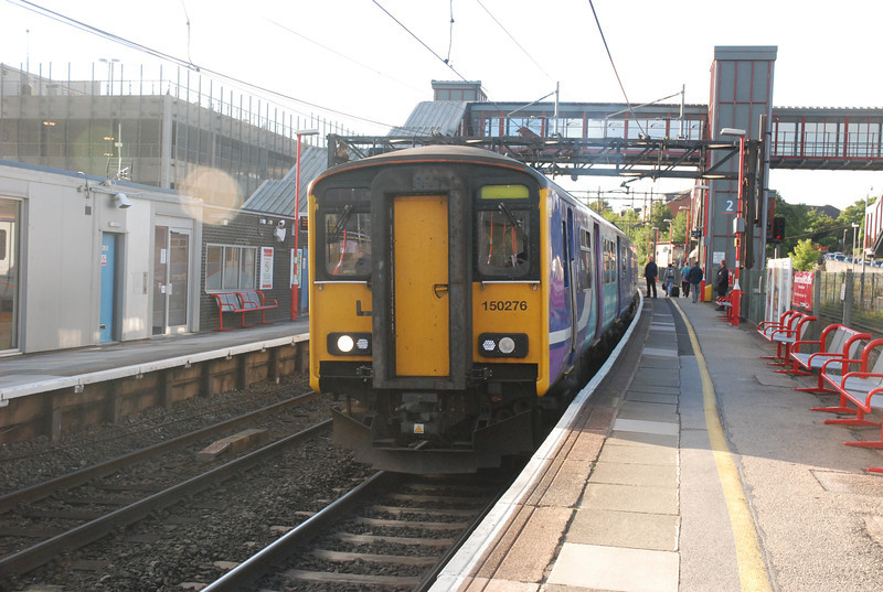 150 276 <br /> <br /> Sits at Runcorn Mainline <br /> <br /> after working very last <br /> <br /> 2F80 07.53 Chester - Runcorn <br /> <br /> 7th Sept 2013
