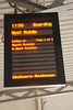 Destination indicator on plat 14 showing our train ready for boarding