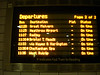 The departure screen downstairs on the Underground shows the arrival of the train from West Ruislip