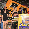 5-5-12 Randy Martin in Victory Lane with Impact Signs