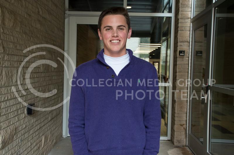 Lucas Renz, an Interfraternity Council Student Senator at Kansas State University, in Manhtattan, KS, on Oct. 31, 2017. (Olivia Bergmeier | Collegian Media Group)