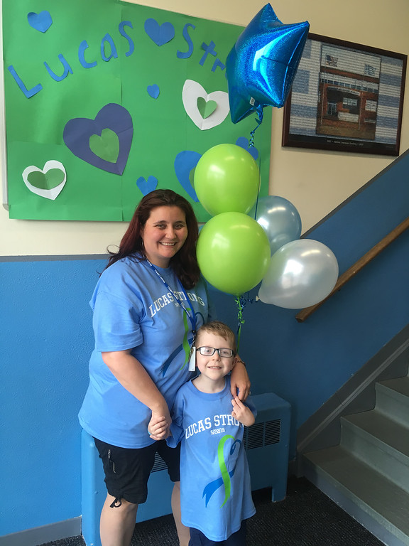 . Lucas and his dedicated and determined mom, Heather St. Onge of Lowell, who is a paraprofessional at HAA