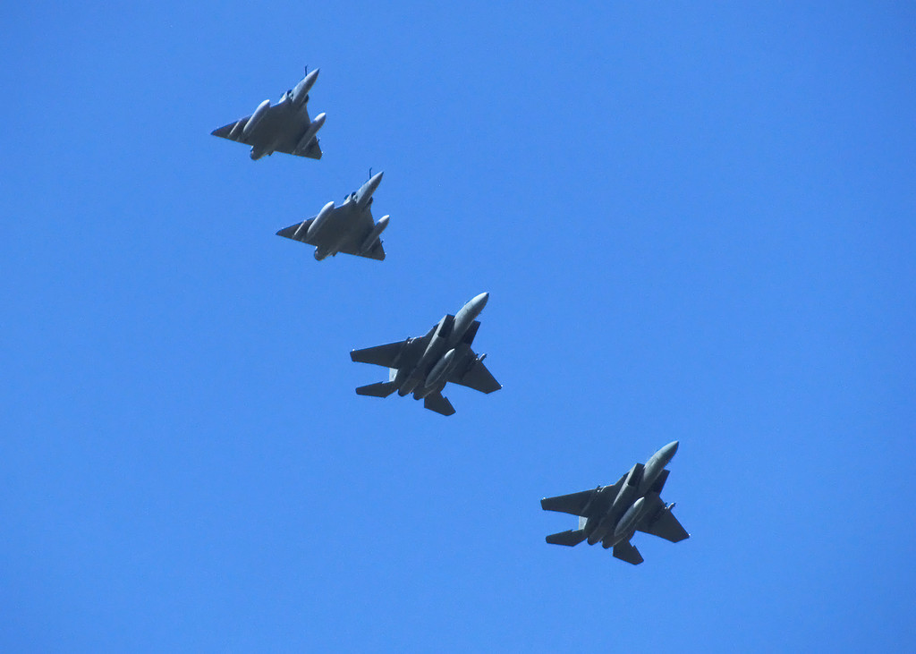 Formation of 2 French Mirages and 2 Saudi F15s