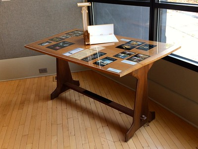 Drafting Table- Repurposed from ca. 1930 Kitchen Table                   1963