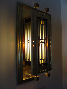 Wallsconce ( 1 of 2 ): design: LC Kapp, fabrication: Tibor Baron