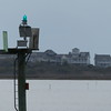 Zoom on ICW marker and Topsail Island