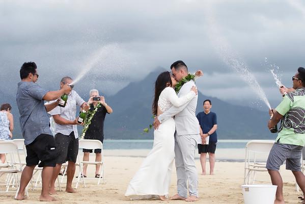Kaneohe sandbar wedding
