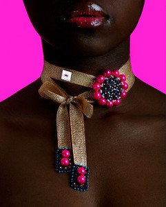 Jewelery Designer: Melissa Curry Model: Lucrece Mougoue Photographer: Angela Halpin