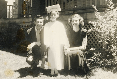Frank, Lucille, and Dorothy Schultz, in 1949.