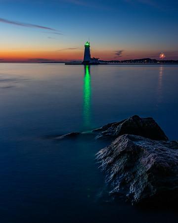 Ludington Lighthouse After Sunset