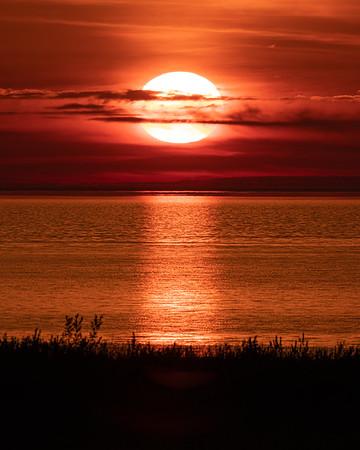 The Sun Sets On Lake Michigan