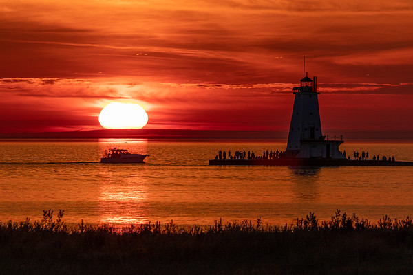 The Crowds Gather for the Sunset in Ludington
