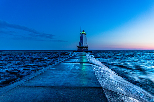 Ludington Lighthouse Rises from the Depths