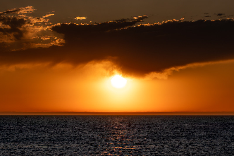 Sunset Beneath the Clouds in Ludington